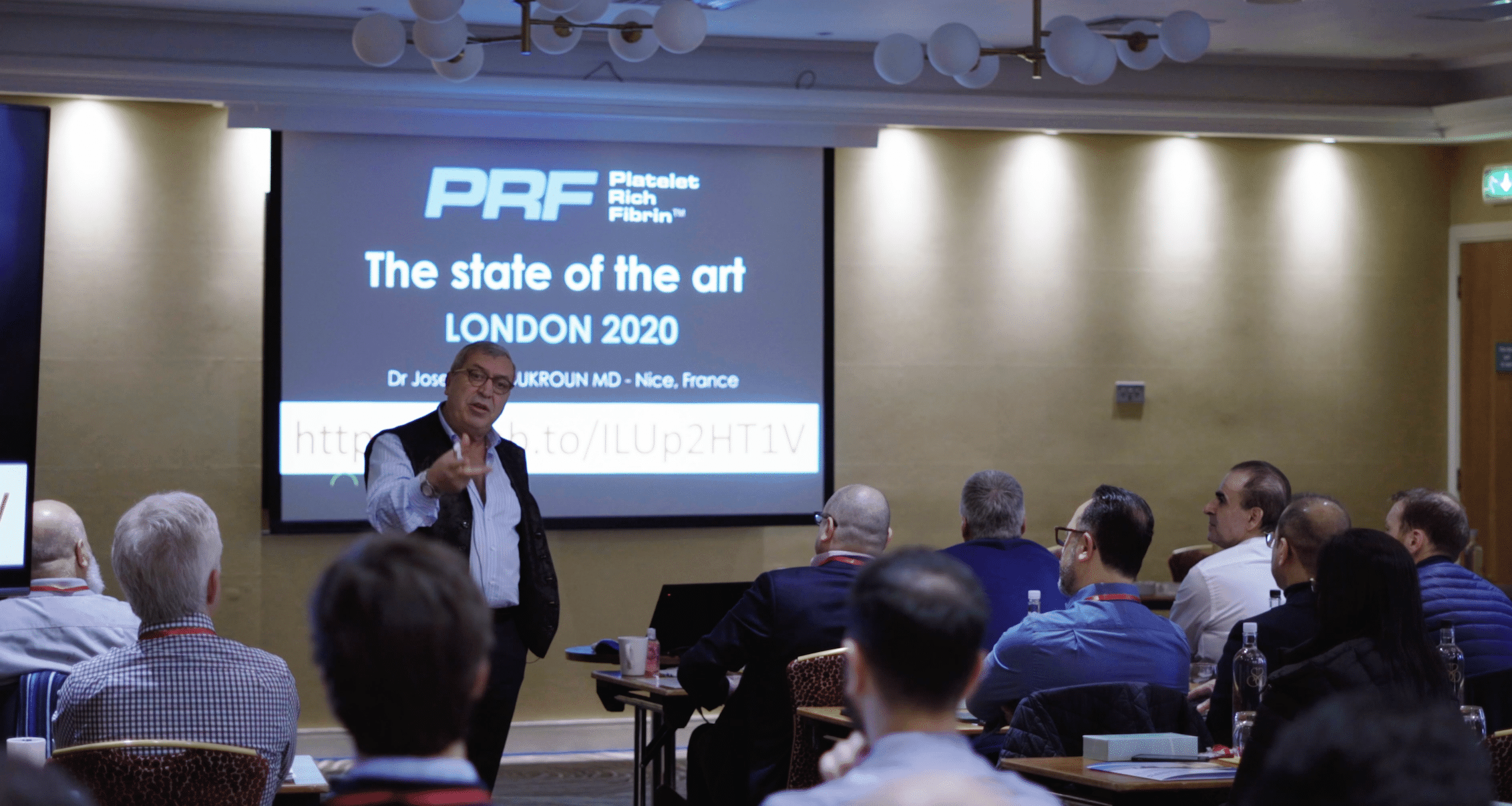 Over 70 implant dentists attended the PRF course in London